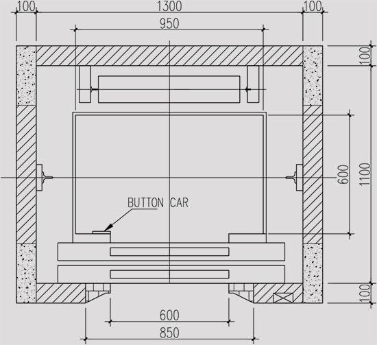 Kích thước lắp thang máy (minh họa)